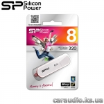 Silicon Power LuxMini 320 8GB White (SP008GBUF2320V1W)