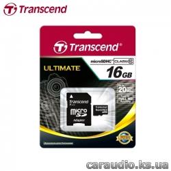 Transcend 16 GB microSDHC class 10 + SD Adapter фото