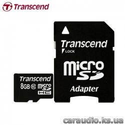 Transcend 8 GB microSDHC class 10 + SD Adapter фото