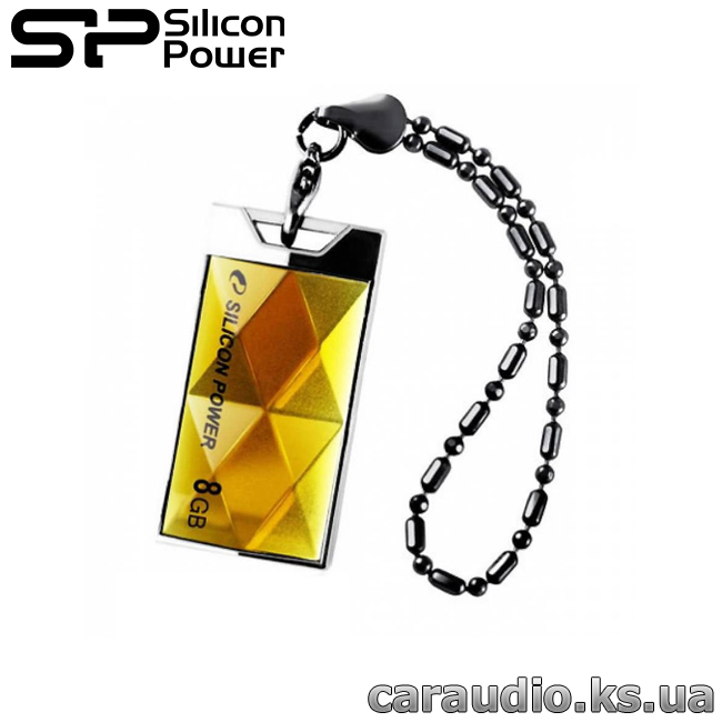 Флеш-память Silicon Power   Touch 850 8GB Amber (SP008GBUF2850V1A) | Автозвук